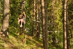 "Waldachterbahn ""Flylinas Hexenflug"" im Wald"